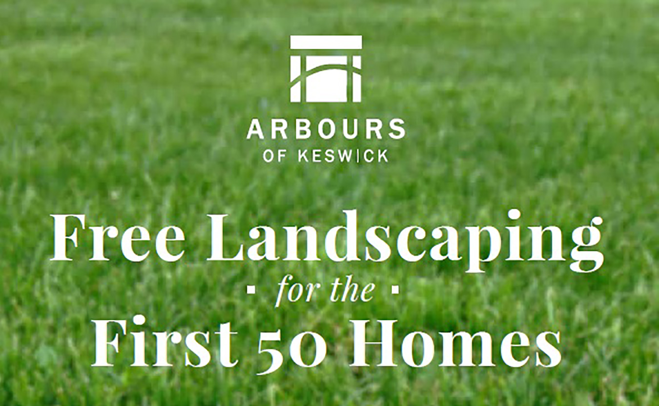 Free landscaping in arbours of keswick!
