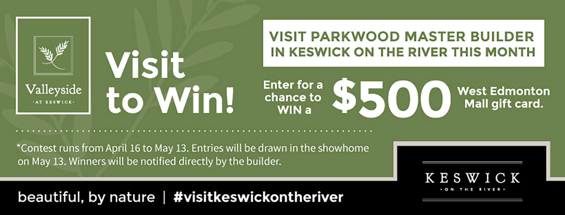 Visit to win at parkwood's keswick on the river show home