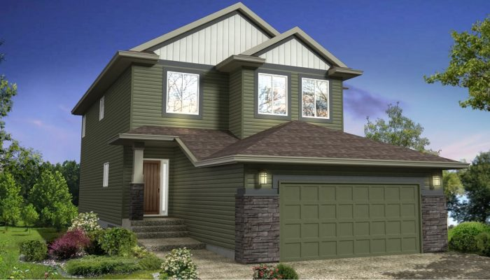 New story home model Florence ii Edmonton home builder