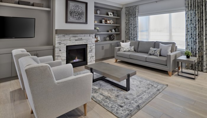 Saffron garden ii living room new home builder edmonton