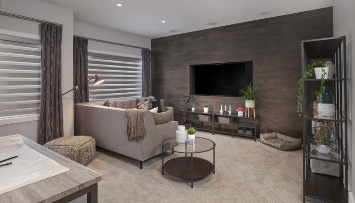 Sienna living room new home builder Edmonton