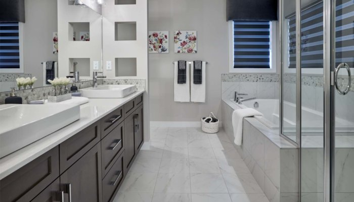 Sienna bathroom new home builder Edmonton