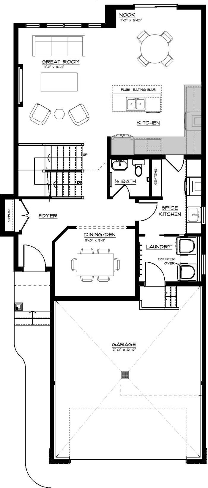 Newport II Main Floor Spice Kitchen