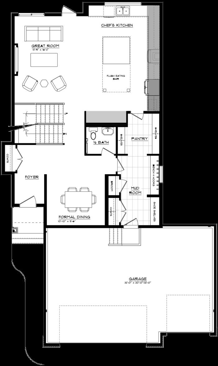21069RSM Main Floor Triple Garage