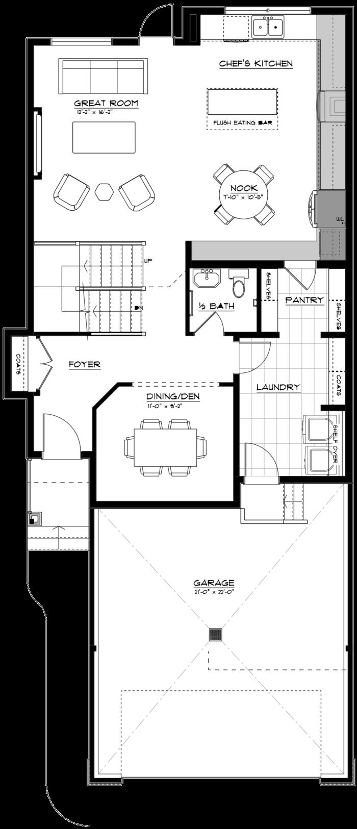 Newport II Main Floor 2020 Chefs Kitchen