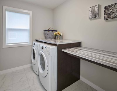 Sienna laundry room new home builder Edmonton